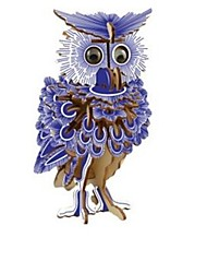 cheap -3D Puzzle Wood Model Model Building Kit Houses Fashion Owl Classic Fashion New Design Owl Kids Hot Sale 1pcs Modern / Contemporary Kid's