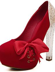 preiswerte -Damen Schuhe Glitzer Kunstleder Frühling Herbst Neuheit High Heels Peep Toe Glitter Band-Bindung Für Hochzeit Party & Festivität Schwarz