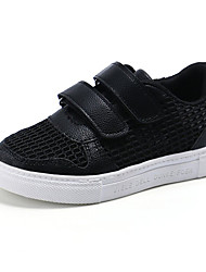 Boy's Flats Spring / Fall Comfort / Round Toe Leatherette Casual Flat Heel  / Hook & Loop / Lace-up Blac