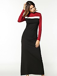cheap -Women's Basic Sheath Dress - Color Block