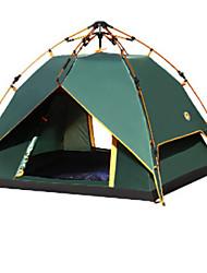 3-4 Pessoas Tenda Barraca com Tela de Proteção Tendas de banho Duplo Barraca de acampamento Um Quarto Tenda Automática Zíper á