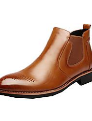 abordables -Homme Chaussures Cuir Hiver Automne boîtes de Combat Botillons Bottes à la Mode Nouveauté Confort Bottes Bottine/Demi Botte Volants pour