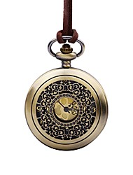 baratos -Mulheres Relógio de Bolso Chinês Quartzo Relógio Casual Couro Banda Vintage Elegant Marrom