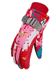 cheap -Ski Gloves Winter Gloves Children's Full-finger Gloves Keep Warm Windproof Wearable Breathable Skiing Waterproof Material Waterproof