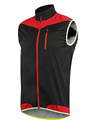 cheap -Arsuxeo Men's Cycling Jacket Bike Vest / Gilet Windproof Polyester, Elastane Yellow / Blue / Black / Red Bike Wear