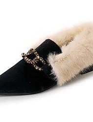 Women's Shoes PU Winter Comfort Flats For Sports & Outdoor Brown Beige