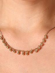 Недорогие -Жен. Шарообразные На каждый день Ожерелья-бархатки Медь Сплав Ожерелья-бархатки , Повседневные