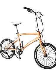 Racercykler Cykling 7 Trin 20 tommer (ca. 50cm) Shimano skivebremse Affjedringsgaffel Normal Foldning Stållegering