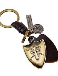 abordables -Porte-clés Bijoux Or Croix Large Cuir Alliage Rétro Gothique Quotidien Sortie Homme