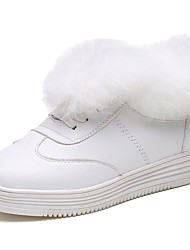 Damer Sko Gummi Vinter Militærstøvler Støvler Rund Tå Til Hvid Sort