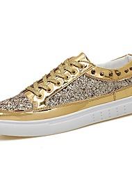 baratos -Homens sapatos Borracha Primavera / Outono Conforto Tênis Dourado / Preto / Prata