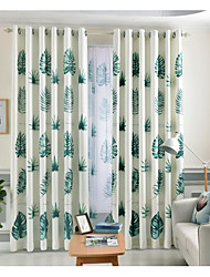 cheap -Blackout Curtains Drapes Bedroom Floral Graphic Prints Polyester Printed