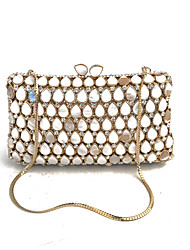 cheap -Women's Bags Glasses Metal Evening Bag Crystal Detailing for Wedding Event/Party Spring Fall Gold