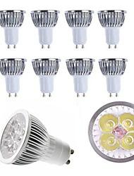 economico -10 pz 4 w gu10 / e27 / e14 / gu5.3 riflettore a led caldo / freddo bianco 350lm lampada spot in alluminio ac85-265 v