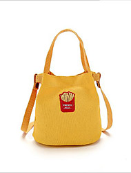 Women Bags Canvas Shoulder Bag Pockets for Casual All Season Black Red Blushing Pink Gray Yellow