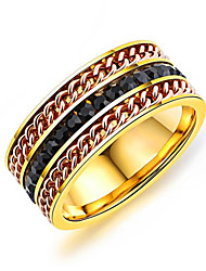 cheap -Men's Band Rings Resin Fashion Korean Titanium Steel Geometric Jewelry For Daily Street