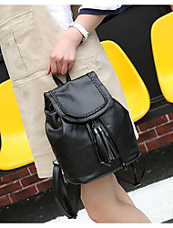 cheap -Women Bags PU leatherette Backpack Zipper for Casual All Season Summer Black