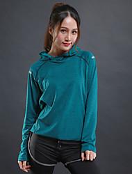 preiswerte -Damen Laufshirt Langarm Trainer Fitness Sweatshirt für Übung & Fitness Laufen Elastan Polyster Rot Grün Grau S M L XL XXL