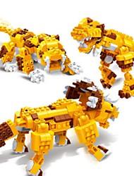 Недорогие -Конструкторы Игрушки 3 в 1 Образование трицератопс Динозавр Tiger Животные 328 Куски Подарок
