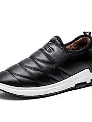 Homme Chaussures Polyuréthane Automne Hiver Confort Mocassins et Chaussons+D6148 Pour Décontracté Noir Marron