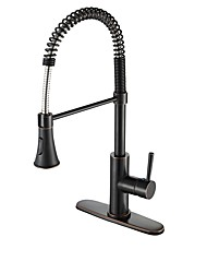 cheap -Kitchen faucet - Modern/Contemporary Oil-rubbed Bronze Deck Mounted