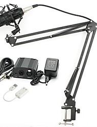 baratos -KEBTYVOR BM800 Com FioMicrophoneConjuntos Microfone Condensador