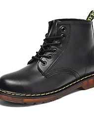 baratos -Homens sapatos Couro Todas as Estações Botas da Moda Botas Botas Curtas / Ankle Preto / Marron / Vinho