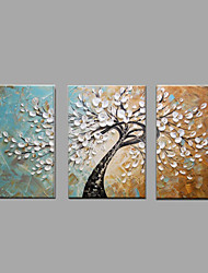 cheap -Hand-Painted Knife Tree Abstract Landscape Modern Oil Painting On Canvas With Stretcher Frame Ready To Hang