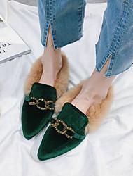 Mujer Zapatos Goma Verano Confort Sandalias Paseo Tacón Cuña Dedo redondo Hebilla Para Negro Verde Color Camello