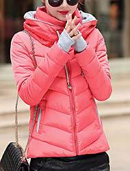 Dámské Dlouhý kabát Jednoduchý Aktivní Jdeme ven Jednobarevné Proužky Tisk-Kabát Bavlna Akryl Jiné Polypropylen Dlouhý rukáv