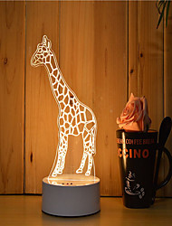 cheap -1 Set Of 3D Mood Night Light Hand Feeling Dimmable USB Powered Gift Lamp Giraffe