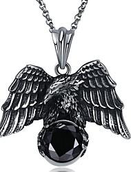 Недорогие -Муж. Ожерелья с подвесками - Нержавеющая сталь Массивный, Готика, Крупногабаритные Серебряный Ожерелье Бижутерия 1 Назначение Праздники, Для клуба