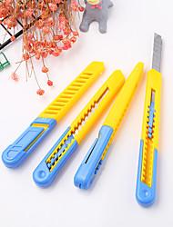 Недорогие -1 шт пластиковый студент арт нож нож для резки канцелярских принадлежностей режущий инструмент