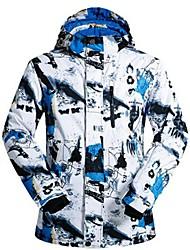 cheap -Men's Ski Jacket Warm Ventilation Windproof Wearable water-resistant Ski / Snowboard Multisport Snowshoeing Winter Sports Polyester