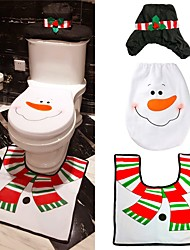 cheap -1pc Holidays & Greeting Embroidery New Year Christmas Toilet Seat Bathroom Sets Christmas Anti Slip Full Coverage Decorative, Holiday