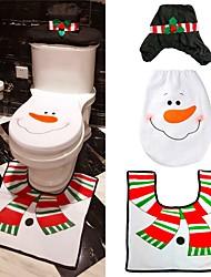 abordables -1pc Vacances & Voeux Broderie Nouvel an Noël Siège de Toilette Set pour Salle de Bain Noël Antidérapant Couvrant Décorative, Décorations