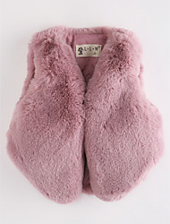 cheap -Girls' Solid Vest,Faux Fur Blushing Pink