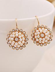 economico -Per donna Orecchini a goccia Perle finte Strass Dolce Elegant Perla Lega Gioielli Per Quotidiano Evento
