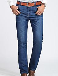 Hombre Pantalones Vaqueros Pantalones,Vaqueros Un Color