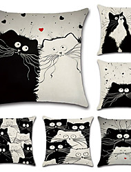 preiswerte -Set von 6 cartoon totoro chinchilla muster kissenbezug kreative sofa kissenbezug 45 * 45 cm kissenbezug