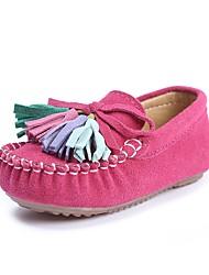 preiswerte -Mädchen Schuhe Kunstleder Frühling Herbst Komfort Flache Schuhe Quaste für Normal Draussen Dunkelblau Fuchsia Rosa