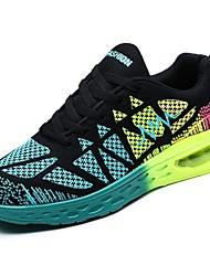 cheap -Women's Shoes Tulle Spring Fall Comfort Athletic Shoes Running Shoes Round Toe For Athletic Black/White Black/Blue White/Green
