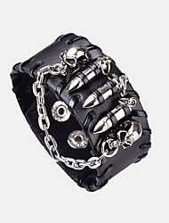 cheap -Men's Bangles Statement Jewelry Hip-Hop Cool Korean Leather Alloy Jewelry Daily Costume Jewelry