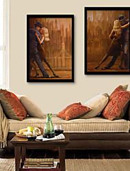 Недорогие -Люди Романтика Иллюстрации Предметы искусства,ПВХ материал с рамкой For Украшение дома Предметы искусства в рамках Гостиная Спальня Кухня