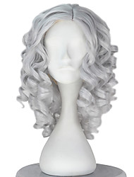 cheap -Synthetic Wig Curly Gray Women's Capless Carnival Wig Halloween Wig Party Wig Lolita Wig Natural Wigs Cosplay Wig Short Synthetic Hair
