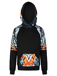 Men's Plus Size Sports Outdoor Daily Active Hoodie 3D Print Hooded Hoodies Micro-elastic Polyester Long Sleeves Winter Fall