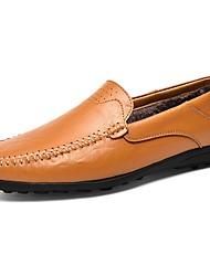 Недорогие -Муж. Обувь для новинок Искусственная кожа Весна / Зима Мокасины и Свитер Черный / Желтый / Темно-коричневый