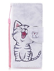 cheap -Case For Sony / Sony Xperia XA Xperia XA1 / Xperia E5 Wallet / Card Holder / with Stand Full Body Cases Cat Hard PU Leather for Sony Xperia XZ1 / Sony Xperia XA1 / Sony Xperia XA