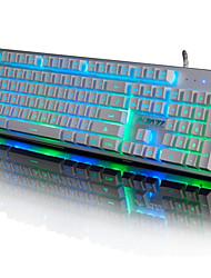 Недорогие -AJAZZ JJS Проводное RGB подсветка 104 Мембранная клавиатура Подсветка