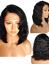 cheap -Brazilian Short Glueless Lace Front Human Hair Bob Wigs With Baby Hair Bleached Knots